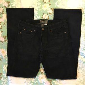 Polo Ralph Lauren Black Corduroy Boot Cut Jeans